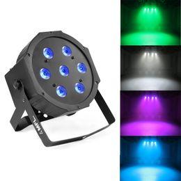7X10W RGBW Stage DJ Lighting LED DMX Par Can Light Party Lights DJ Disco Lights Wash Effect Par Light for Party Wedding Church