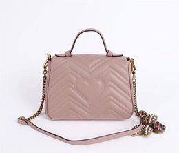high quality genuine leather women handbags famous designer shoulder bag lady Saddle bag 498110