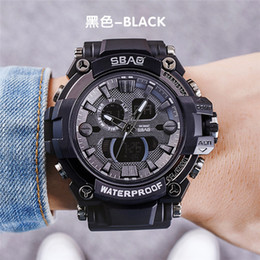 SBAO New Men Digital Watch Student Boy Wristwatch Outdoor Sport Male Watches LED Display Waterproof Brand Round Dial Backlight