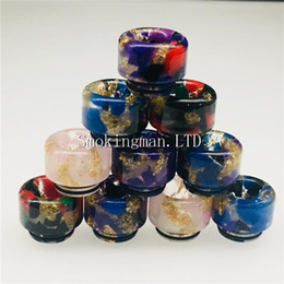 HotSale Epoxy Resin drip tip Colorful Wide Bore drip tips 810 Mouthpiece for Smoking TFV8 Tfv8 Big Baby Tfv12 Tank with Retail Package