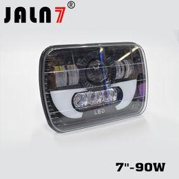 1PCS 7''-90W LED Work Light 9900LM Car 12V Truck Fog Light High Beam Low Beam JALN7