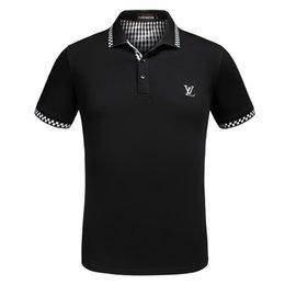 2018 Men's Spring Summer Casual Business T-shirt Classic Shirt Men's Shirt Classic Men's T-Shirt Trend T-Shirt 98261