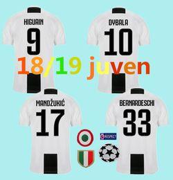 18 19 juventusing soccer jerseys HOME 7 Ronaldo dybala 2019 D.COSTA HIGUAIN MATUIDI MANDZUKIC champions league football shirts TOP QUALITY