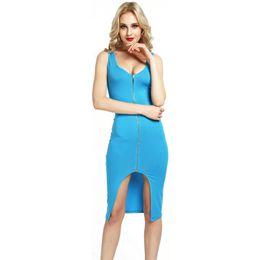 2018 Hot Sales fashion Women Super Short Party Bodycon Dresses Sexy Club Dress milk silk fabric with zipper