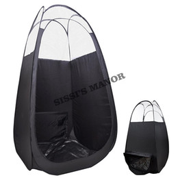 Black color Spray Tanning tent with PVC roof top quality popular in Eruopean & Ameriacan market Airbrush Spray Tanning Tent