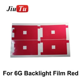 High quality Backlight sticker film plastic refurbishment replacement for iPhone 6 6G Red film 500pcs lot DHL Free shipping