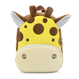 2018 3D Cartoon Plush Children Backpacks kindergarten Schoolbag Animal Kids Backpack Children School Bags Girls Boys Backpacks free shipping