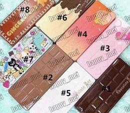 Free Shipping DHL Chocolate Bar Sweet Bon Bons Semisweet White Gold Best Friend Sweet Peach Gingerbread Eyeshadow Palette!8 Different Colors