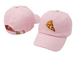 Pizza Dad Hats Pink Brand Design Diamond Visor Hip Hip Snapback Hats For Men Summer Cotton Baseball Cap Outdoor Women Peaked Sports Caps