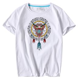Men's short sleeve O-Neck Totem Printed large size T Shirts Summer High Quality Hipster tee shirts
