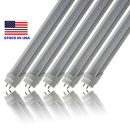 Stock In USA 4ft LED tube lights G13 22W T8 1.2m SMD2835 super bright 2200LM Cool white LED fluorescent Light