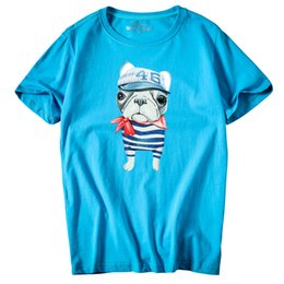 106 5000 Casual Men's short sleeve O-Neck Hat Dog Printed large size T Shirts Summer High Quality Hipster tee shirts