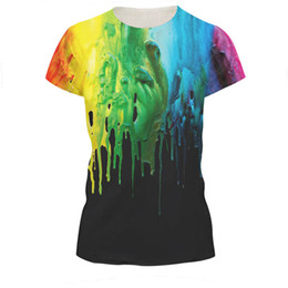 Novelty Explosive Wholesale Colorful 3D Cartoon Printed Short Sleeve T-Shirt Fashion Couple Tees