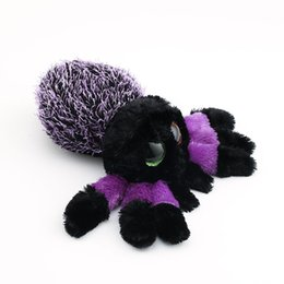 Cheap Stuffed   Plush Animals Ty Beanie Boos Big Eyes Purple Spider 10 -  15cm Stuffed Plush Animals Toys Dolls Child Gift 67df4918b426