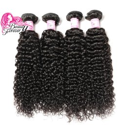 Beauty Forever Brazilian Virgin 8-26inch Curly Hair Bundles 4 Pieces Natural Color Human Hair Weaving Best Quality Hair Extensions Wholesale