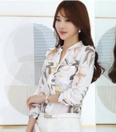 New 2018 Autumn Fashion V-Neck Chiffon Blouses Slim Women Chiffon Blouse Office Work Wear shirts Women Tops Plus Size Blusas