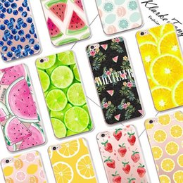 Pretty Fruit Lemon Watermelon Pattern Cell Phone Case For iPhone 6 6S 7 Plus 8 X Transparent Silicone Phone Back Cover