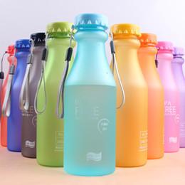 Sport water bottle 550ml leak proof seal soda bottle EPA free eco friendly plastic water bottle frosted unbreakable portable outdoor sports