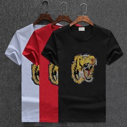 Hot sale New embroidery tee tiger Brand men t Shirt Camisas Masculinas Cotton Polo men tShirts blouse 4XL
