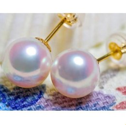 Classic South Sea Round White 10-11mm Pearl Earring 14k Gold Accessories