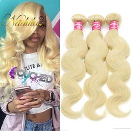Nadula Peruvian Body Wave Human Hair Weave 613 Blonde Bundles Peruvian Virgin Human Hair Extensions Cheap Blonde Bundles Wholesale Bulk