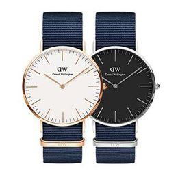 New Luxury Brand Daniel Watch Red Blue Watch Nylon Band 40MM Men's Quartz Watch