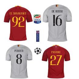 A+A+2018 2019 Roma Soccer Jersey NAINGGOLAN TOTTI DZEKO PEROTTI DE ROSSI EL SHAARAWY CASTAN PASTORE Custom Home Away 18 19 Rome Football Shi