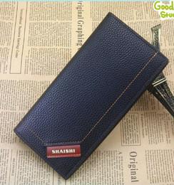 wholesale Men's new brand wallet multi-card Korean version of the long envelope black clutch bag manufacturers