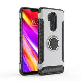 Car Holder Mount Magnetic Hybrid Case for LG G6 G7 Q6 Q8 V30 K10 2017 LV5 K8 LV3 Aristo 2 X210 Back Cover