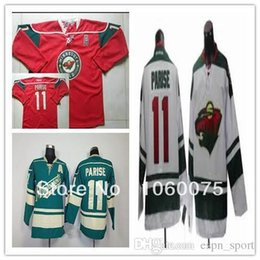 2015 Cheap Minnesota Wild 11 # Zach Parise Jersey Red  Green White Youth ice hockey jersey Wholesale sale