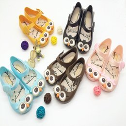 Hot Summer Flat Buckle Jelly Fish Mouth Children Girl Owl Children's Sandals Hole Beach Shoes 4 Colors