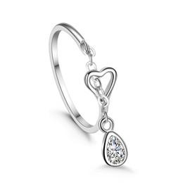 925 Sterling Silver Open Finger Rings for Women Luxury Sterling Silver Jewelry Dangle Rings