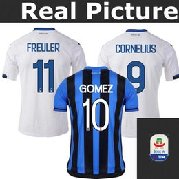 TOP 18 19 Atalanta B.C. HOME AWAY soccer jerseys Adults 2018 2019 football shirt CORNELIUS 9 CRISTANTE 4 GOMEZ 10 GOSENS 8 JERSEY