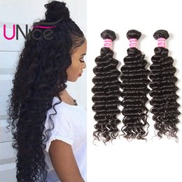 UNice Hair Brazilian Deep Wave 5 Bundles Unprocessed 100% Human Hair Extensions Remy Wholesale Curl Hair Weave Bundles 12-26 inch Virgin