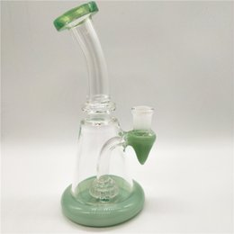 Mini Glass Water Pipe Bong Bend Type Smoking Pipe Dab Rig Percolator Oil Rig Wholesale Free Shipping