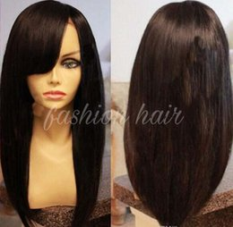 Glueless Full Lace Human Hair Wigs for Black Women with Full Bangs Lovely Brazilian Lace Front Wigs Natural Hairline Around