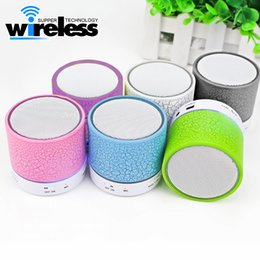 A9 Bluetooth Speaker S10 LED MINI speaker TF USB FM Wireless Portable Music Sound Box Subwoofer Loud speakers For phone PC with Mic