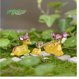 Moss Pot Microlandscape Resin Crafts Fairy Garden Accessories Resin miniature Tree Creative Lovely Deer Figurines DIY Christmas Accessories
