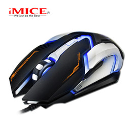 imice Wired Gaming Mouse USB Optical Mouse 6 Buttons PC Computer Mouse Gamer Mice 4800dpi For Dota 2 LOL Game V6
