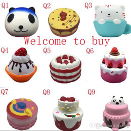 various Squishy cakes Slow Rising 10cm 11cm 12cm 15cm Soft Squeeze Cute Cell Phone Strap gift Stress children toys j