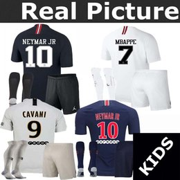 Youth 18-19 PSG jersey home away champions league MBAPPE VERRATTI Jordam Goalkeeper Buffon football soccer jersey shirts