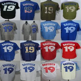 Factory Outlet Mens Womens Kids Toddlers Toronto 19 Jose Bautista Black Green Grey Blue Red White Best Quality Embroidery Baseball Jerseys