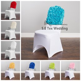 Satin Rosette Chair Cap Chair Hood Fit On Banquet And Wedding Chair Cover