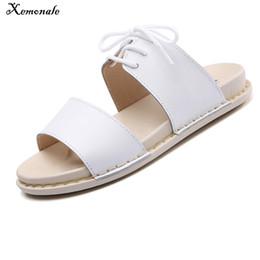 Xemonale 2018 Women Sandals Summer Lace Up Ankle Strap Flat Sandals Summer Beach Sandals Women Flip Flops Ladies Flat Sandalas