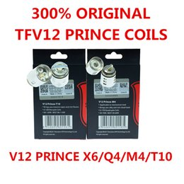 300% Authentic TFV12 Prince Cloud Beast Coil Head Replacement V12 Q4 X6 T10 M4 Coils Massive Vapor Vape Core Tank 100% Genuine Tech