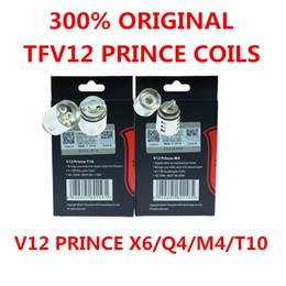 300% Auténtico TFV12 Prince Cloud Beast Reemplazo de la cabeza de la bobina V12 Q4 X6 T10 M4 Bobinas Massive Vapor Vape Core Tank 100% Tecnología genuina