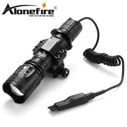 AloneFire TK400 CREE XML L2 led hunting torch light flashlight Pressure Switch Mount Hunting Torch Lighting