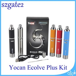 Yocan Evolve Plus Starter Kits 1100mAh Battery with Yocan Plus Quartz Dual Coil Wax Vaporizer Top Quality Electronic Cigarette Kis 0266119