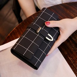 Women's purse long frosted Japan and South Korea large-capacity multi-functional three fold women's wallet