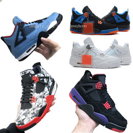 Tattoo Travis Scott x 4 Houston Oilers Blue Black Basketball Shoes 4s Raptors IV Motorsport Cactus Jack Men 2019 Authentic Sneakers Sports